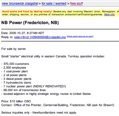 NB Power-craigslist