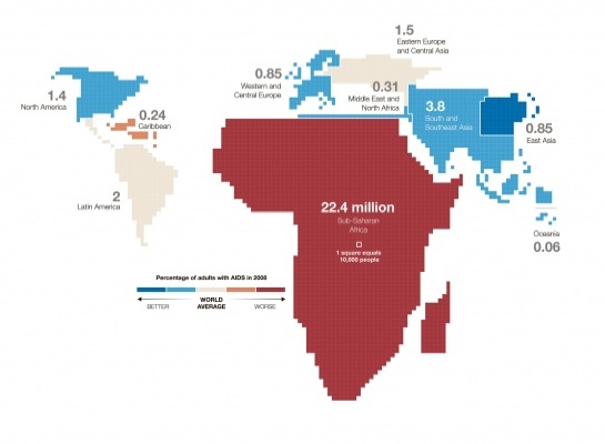 aids world map