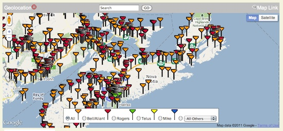 Cell Tower Map Canada Where's the nearest cell tower? | Contrarian