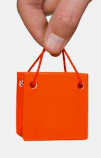 Hand with mini bag