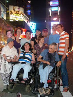 L'Arche Cape Breton members on vacation in Manhattan