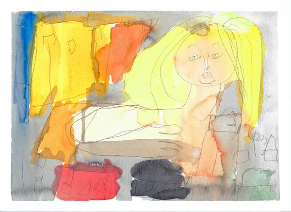 CA-LArche_Toronto-Andrea_Frizon-Woman-27.5x37.5-Watercolour-2013