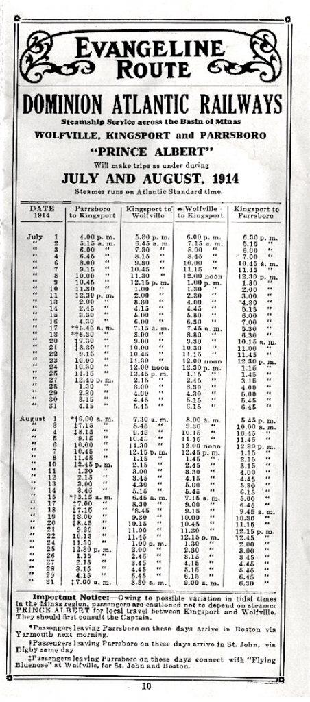 Timetable Evangeline