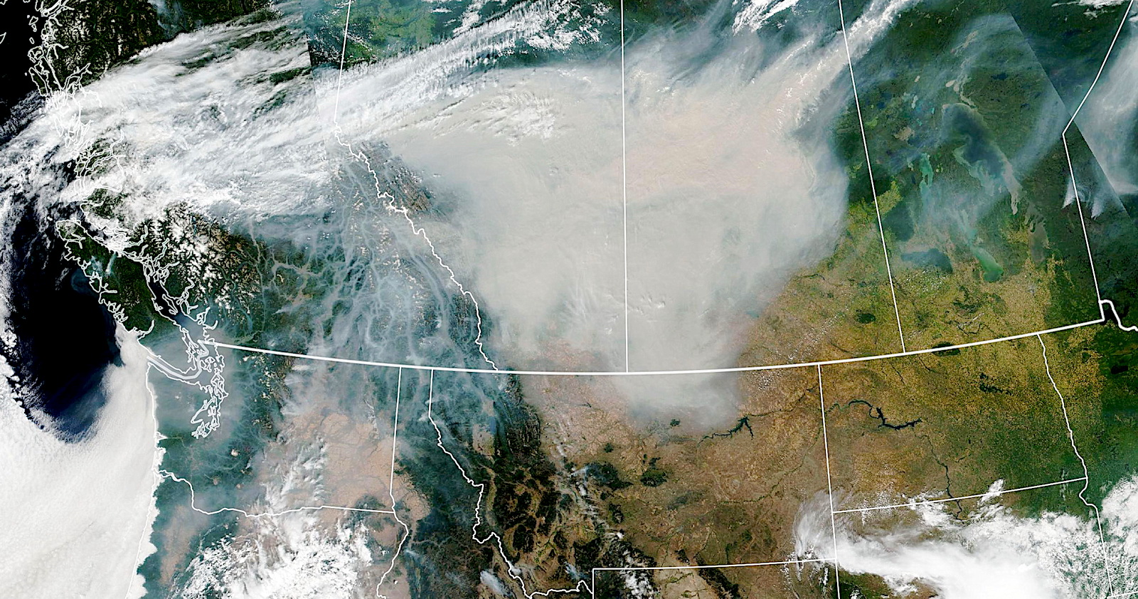 Smoke from BC forest fires reaches the North Atlantic