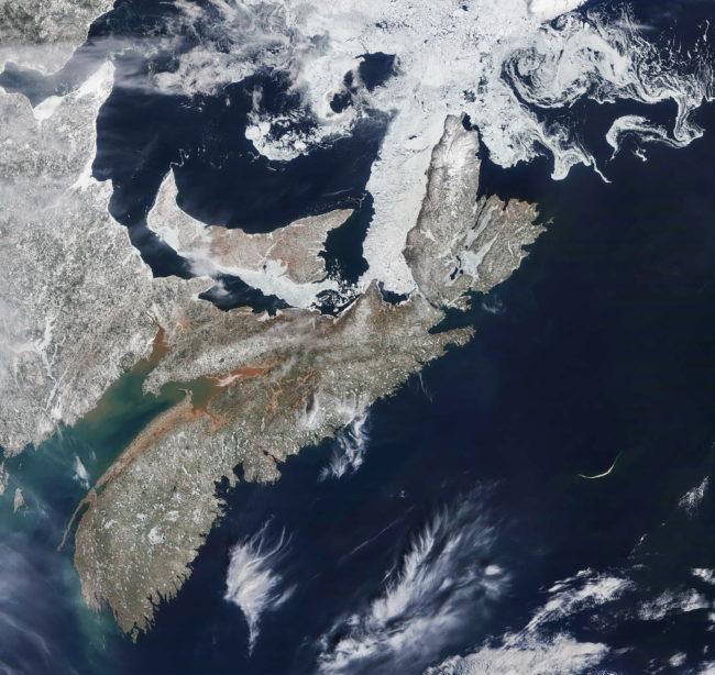 Equinoctial Nova Scotia from the sky